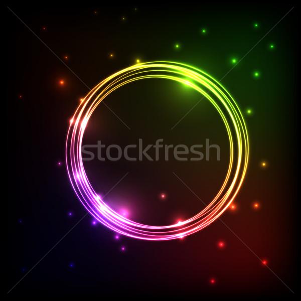 Abstrakten Plasma farbenreich Kreise hat Vektor Stock foto © punsayaporn