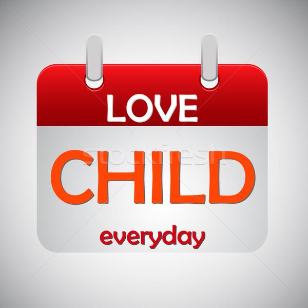 Miłości dziecko codzienny kalendarza ikona papieru Zdjęcia stock © punsayaporn