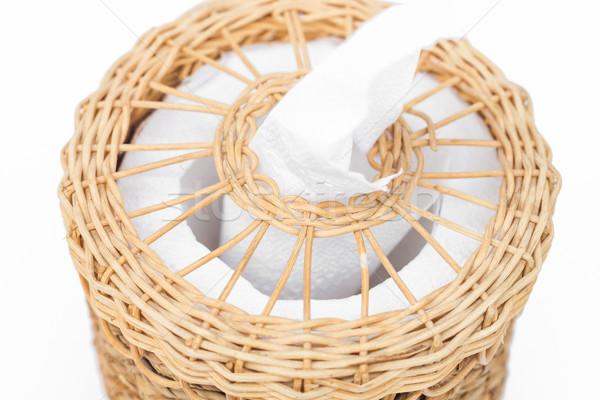 Craft weave tissue paper box Stock photo © punsayaporn