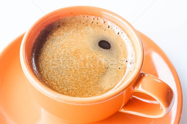 Quente copo dobrar café expresso isolado branco Foto stock © punsayaporn