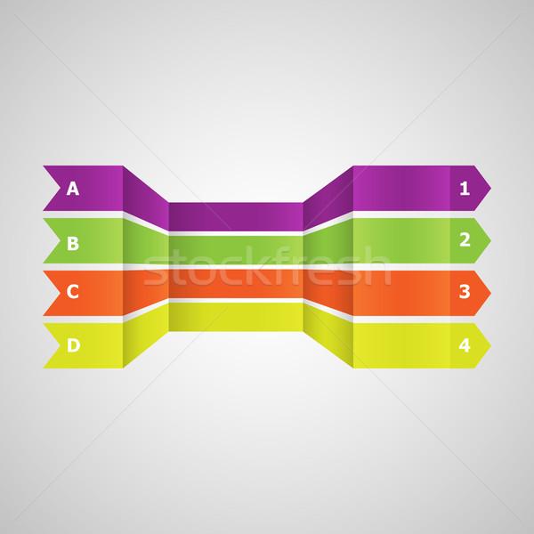 Poziomy kolorowy linie perspektywy czas wektora Zdjęcia stock © punsayaporn
