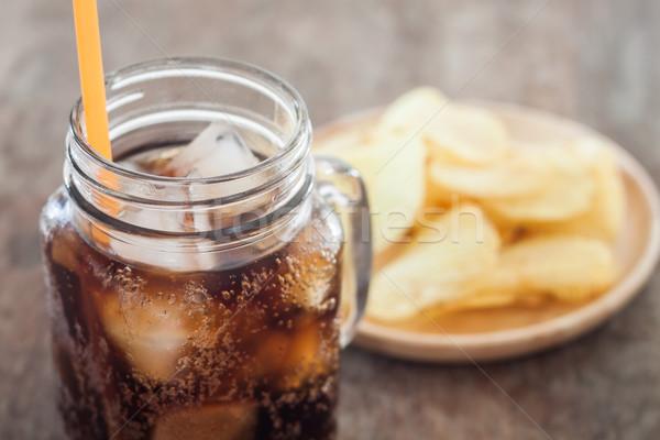 Cola chips voorraad foto partij Stockfoto © punsayaporn