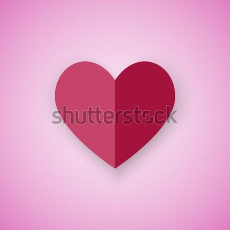 赤 中心 ピンク 在庫 ベクトル 幸せ ストックフォト © punsayaporn