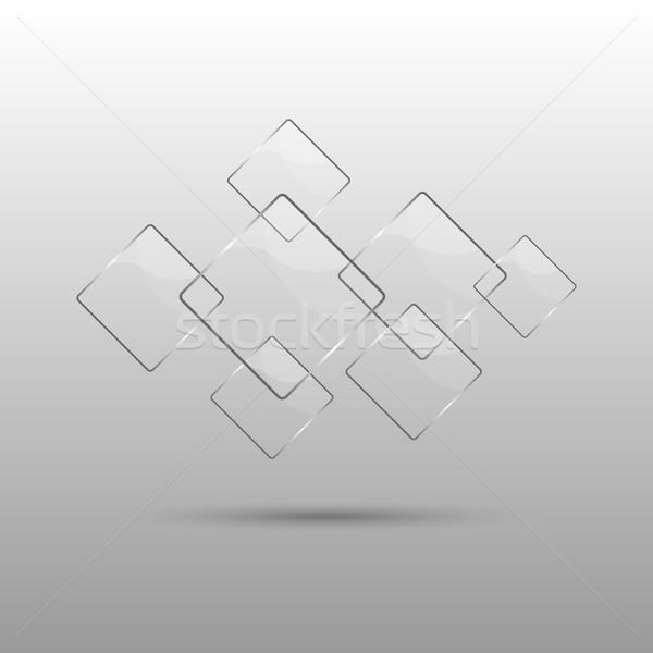 抽象的な 透明な 要素 グレー ビジネス デザイン ストックフォト © punsayaporn