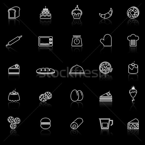 ベーカリー 行 アイコン 黒 在庫 ベクトル ストックフォト © punsayaporn