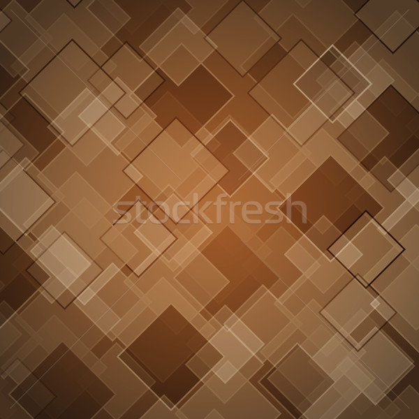 Abstract brown background with rhombus Stock photo © punsayaporn
