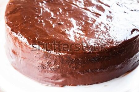 Freshly baked of  chiffon milk chocolate cake Stock photo © punsayaporn