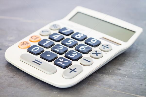 Calculator grijs voorraad foto business scherm Stockfoto © punsayaporn