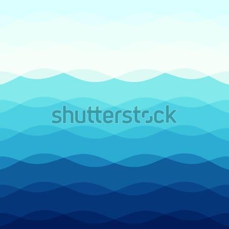 Abstrato azul curva linhas estoque vetor Foto stock © punsayaporn
