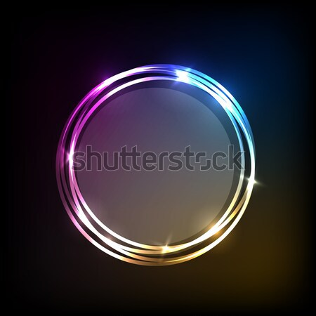 аннотация красочный Круги баннер складе вектора Сток-фото © punsayaporn