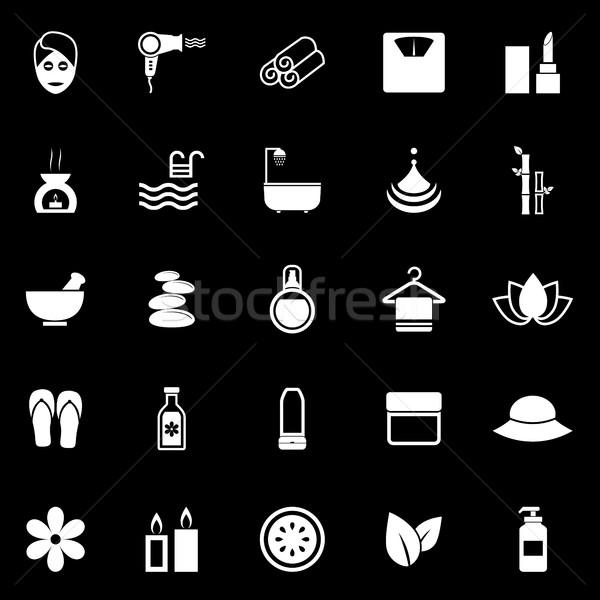 Schoonheid iconen zwarte voorraad vector natuur Stockfoto © punsayaporn