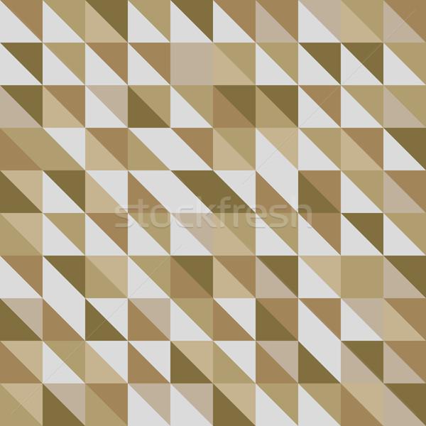 Retro driehoek patroon bruin voorraad vector Stockfoto © punsayaporn