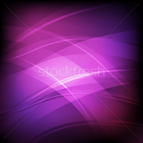 Abstrato violeta linha onda estoque vetor Foto stock © punsayaporn