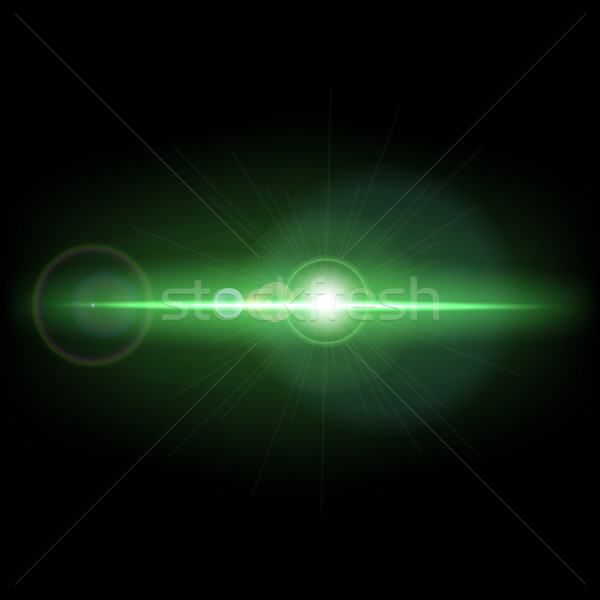 Abstract background with green lens flare Stock photo © punsayaporn