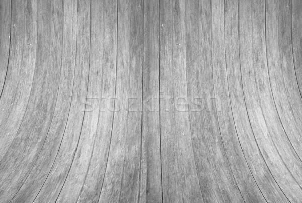 Feketefehér fa fal görbe textúra stock Stock fotó © punsayaporn