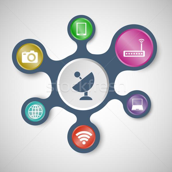 Sjablonen voorraad vector computer internet Stockfoto © punsayaporn
