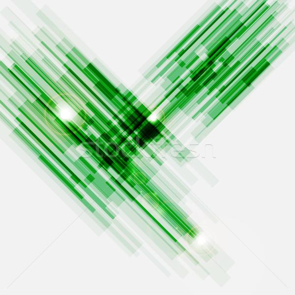 Groene abstract rechtdoor lijnen voorraad vector Stockfoto © punsayaporn