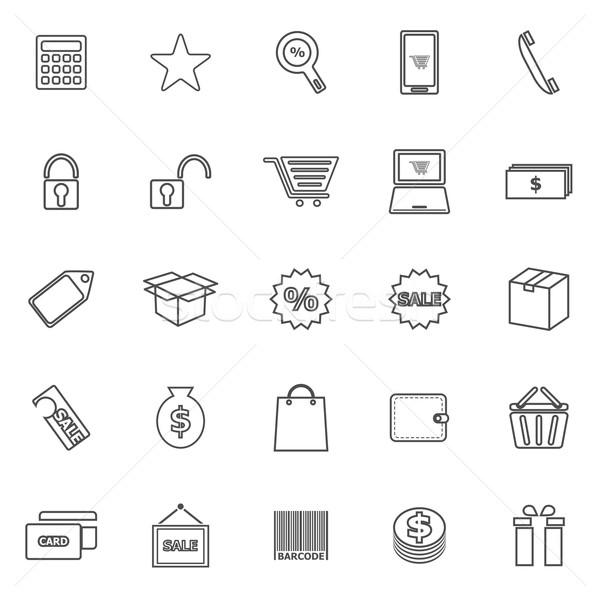 ショッピング 行 アイコン 白 在庫 ベクトル ストックフォト © punsayaporn