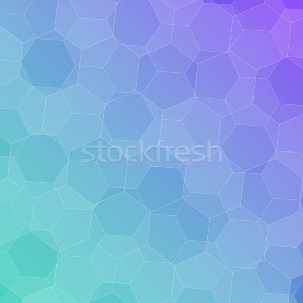 Abstract colorful background with hexagons Stock photo © punsayaporn
