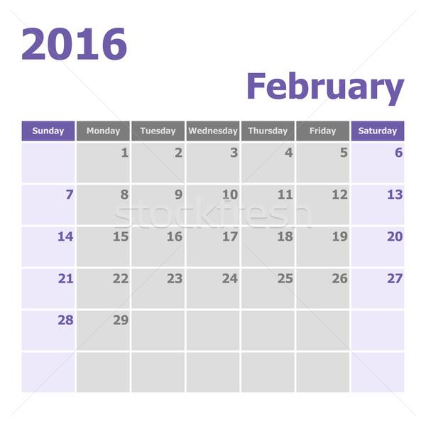 カレンダー 2016 在庫 ベクトル 色 ストックフォト © punsayaporn