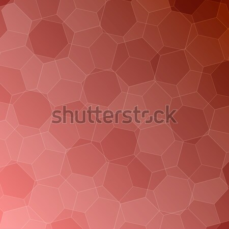 Abstract pink-orange background with hexagons Stock photo © punsayaporn
