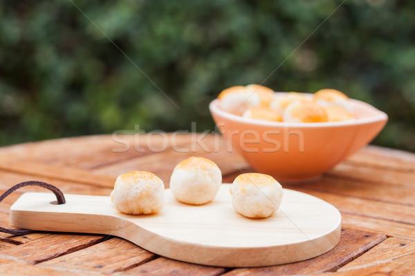 ミニ 中国語 ケーキ 木製 プレート 在庫 ストックフォト © punsayaporn