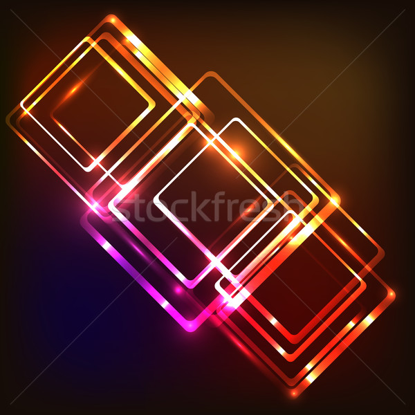 Abstract neon background with rounded rectangles Stock photo © punsayaporn
