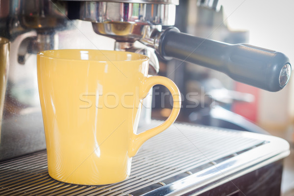 Koffiemok coffeeshop voorraad foto business kantoor Stockfoto © punsayaporn