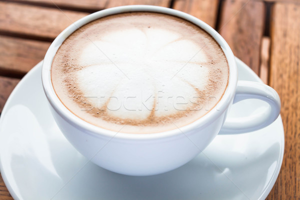 Soft milk microfoam topped on hot cafe mocha Stock photo © punsayaporn