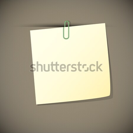 Green read note paper with paperclip, Stock photo © punsayaporn