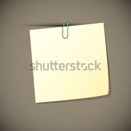 Zielone przeczytać spinacz biuro podpisania Zdjęcia stock © punsayaporn