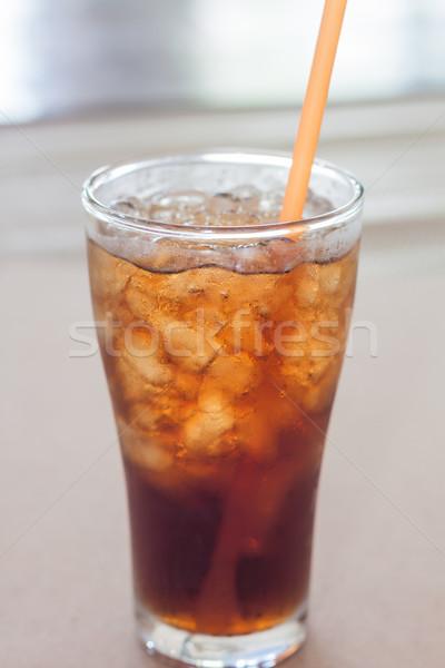 Vidro cola gelo estoque foto água Foto stock © punsayaporn