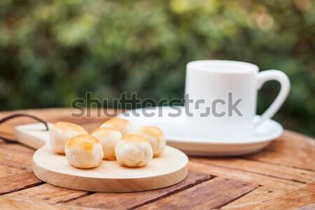 Mini chino tortas placa stock Foto stock © punsayaporn