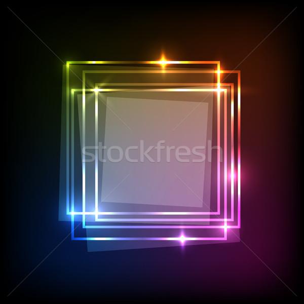 抽象的な ネオン カラフル 正方形 バナー 在庫 ストックフォト © punsayaporn