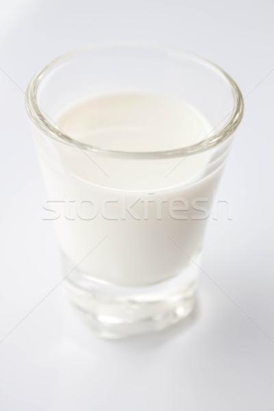 Mini Glas frischen fettarm Milch Natur Stock foto © punsayaporn