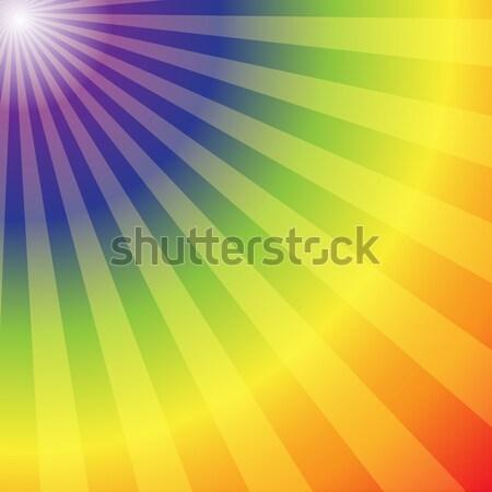 Rainbow radial rays abstract background Stock photo © punsayaporn