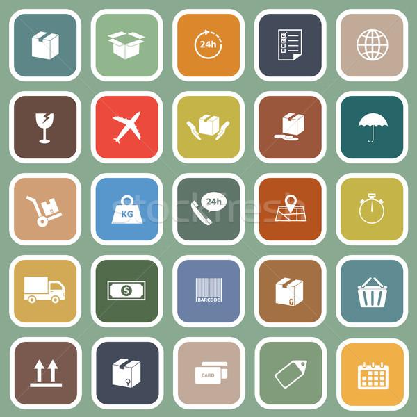 Envío iconos verde stock vector diseno Foto stock © punsayaporn