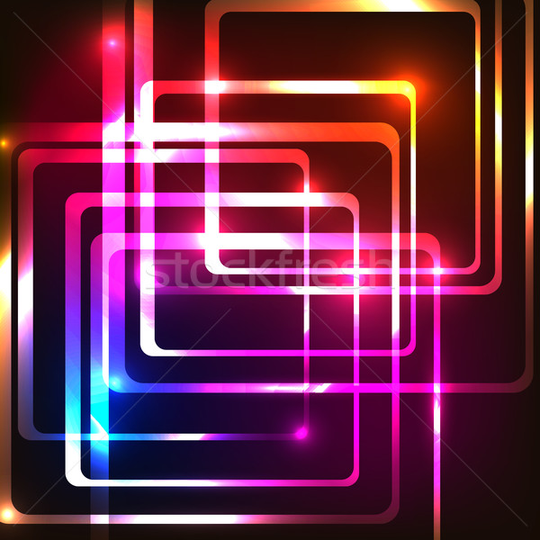 Abstract background with rounded rectangles Stock photo © punsayaporn