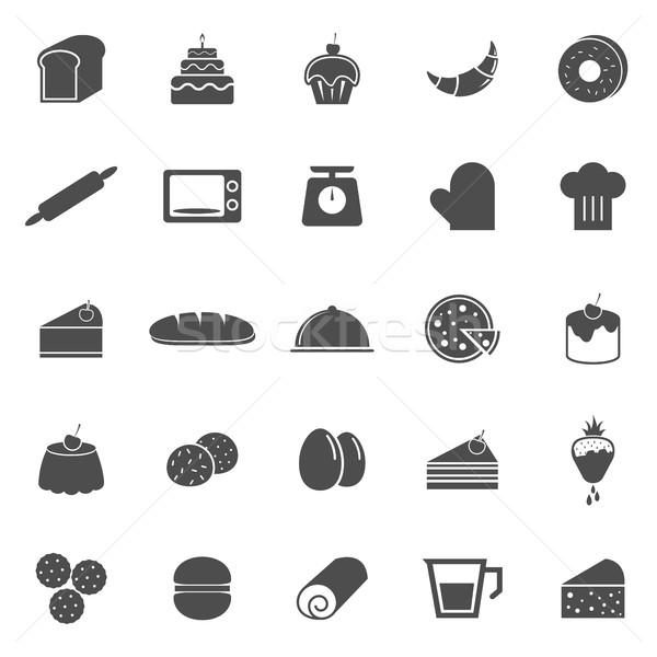 Bakery icons on white background Stock photo © punsayaporn
