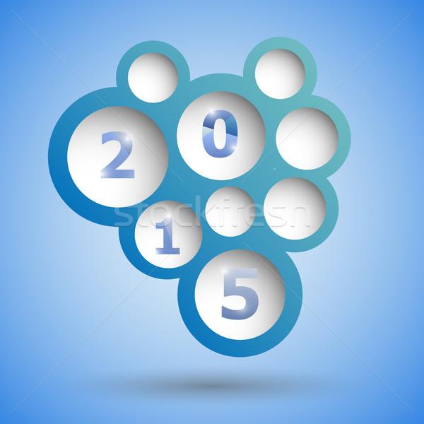 2015 abstrato azul balão de fala estoque vetor Foto stock © punsayaporn