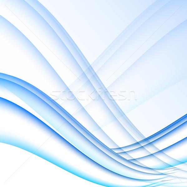 синий белый волны современных футуристический аннотация Сток-фото © punsayaporn