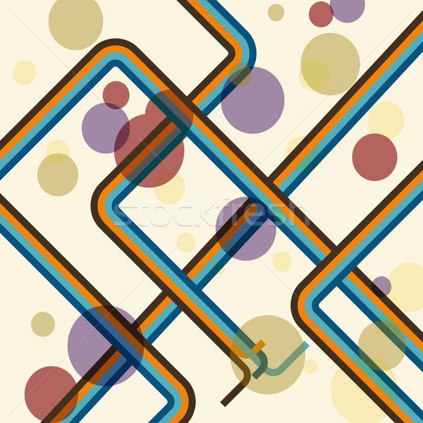 Színes vonal retro stock vektor absztrakt Stock fotó © punsayaporn