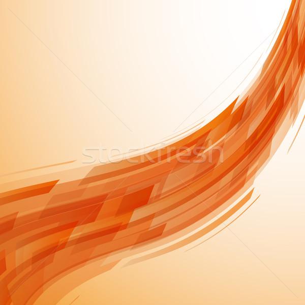 Abstract orange wave technology background Stock photo © punsayaporn