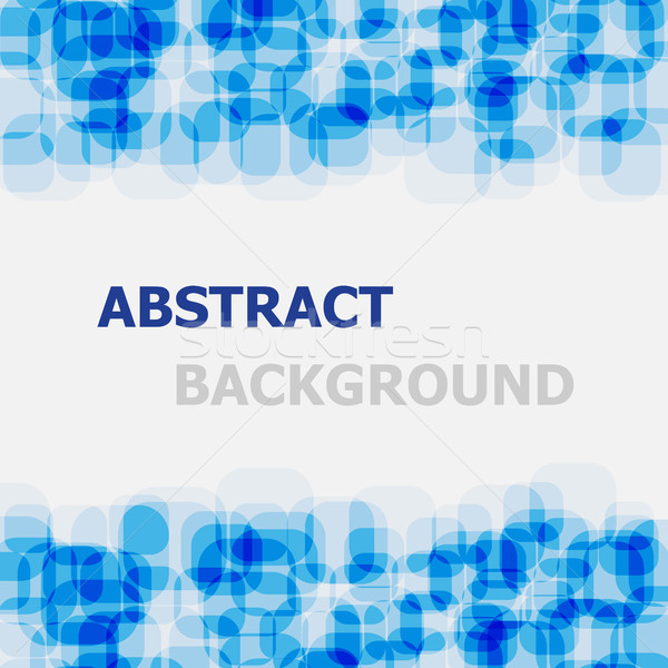 Abstract blue rounded rectangle overlapping background Stock photo © punsayaporn