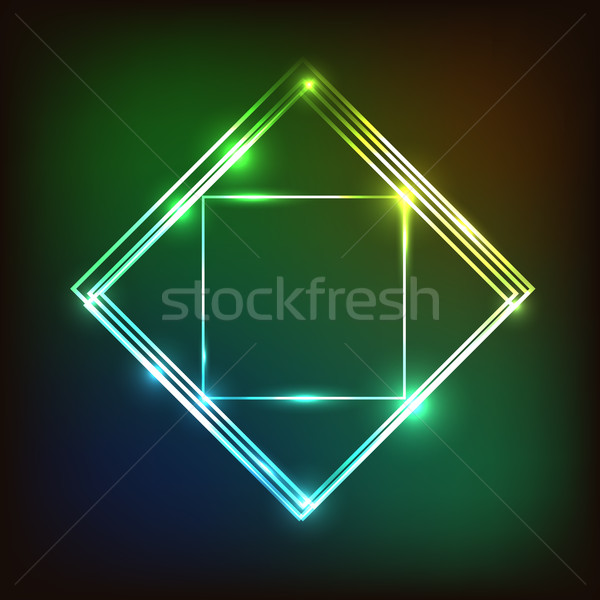 Abstract colorful glowing background with squares Stock photo © punsayaporn