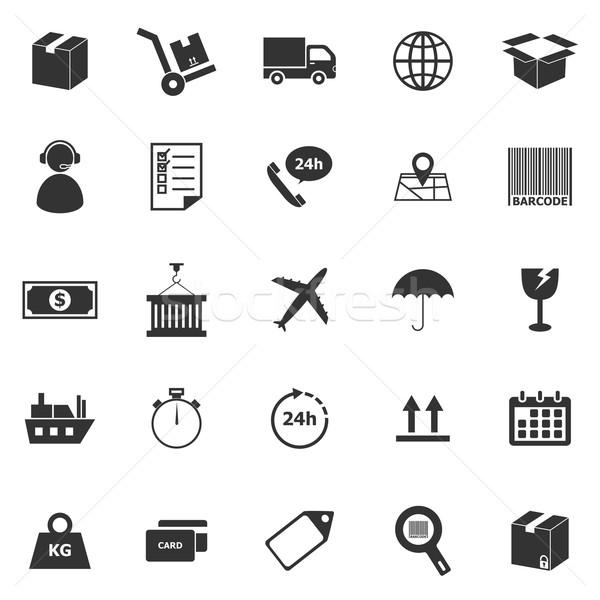 Logistics icons on white background Stock photo © punsayaporn