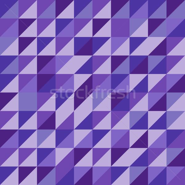 Retro driehoek patroon violet voorraad vector Stockfoto © punsayaporn