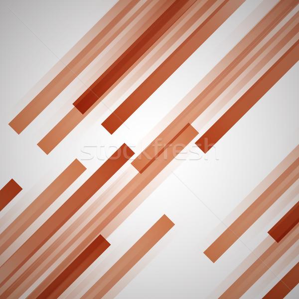 Streszczenie pomarańczowy prosto linie czas wektora Zdjęcia stock © punsayaporn