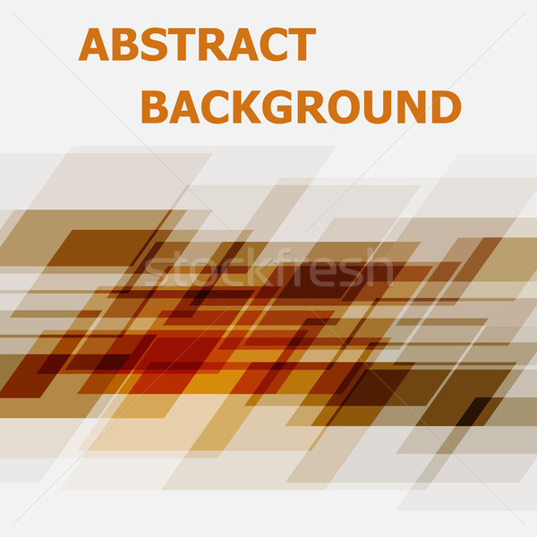 Abstract orange geometric overlapping design background Stock photo © punsayaporn