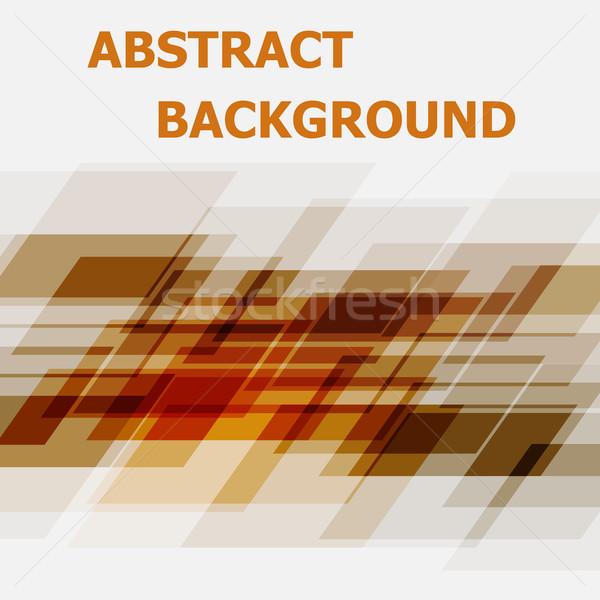 Resumen naranja geométrico diseno stock vector Foto stock © punsayaporn